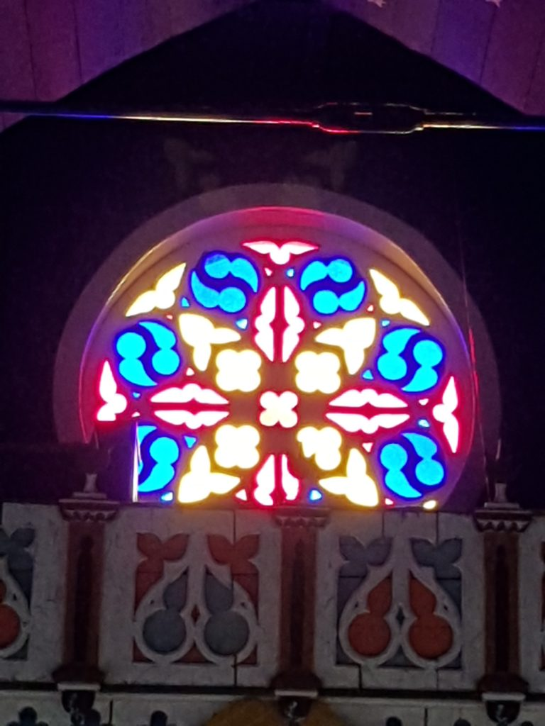 Stained Glass Window in Steeple
